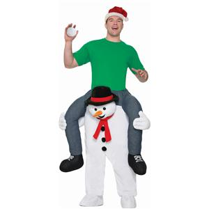 Ride a Snowman Carry Me Cold Shoulder Funny Adult Christmas Winter Costume