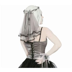 Forum Novelties Women's Ghostly Spirits Veil Halo Headpiece Costume Accessory