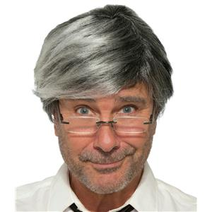 Gray Silver Old Man Dad Costume Wig