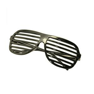Black Lensless Shutter Blinds Style Party Glass Frame Cool Fashion Eyewear