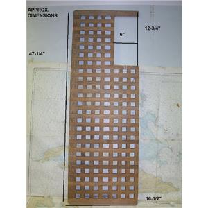 "Boaters' Resale Shop of TX 1703 2744.25 TEAK GRATE 16-1/2"" W x 47-1/8 L"