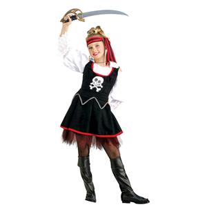 Pirates of the Seven Seas Ship Mate Girls Child Costume Size Small 4-6