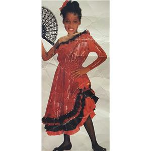 Deluxe Flamenco Dancer Child Large 12-14