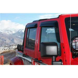 Wade Tape-On Wind Deflectors by Westin - 72-51496 - Jeep Wrangler/Unlimitd 07-16