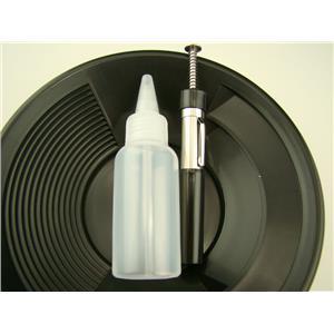 """1- 8"""" Black Gold Pan 1- 5"""" Bottle Snuffer 1-Pocket Magnet Pick up tool"""