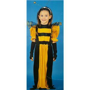Forum Queen Bee Child Costume, Black/Yellow, Large