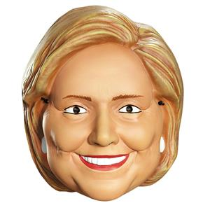 Hillary Clinton Plastic Face Half Mask
