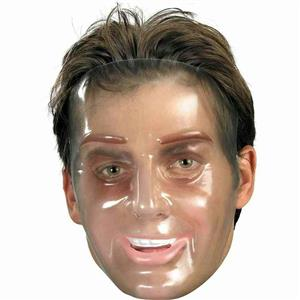 Transparent Young Male Man Plastic Adult Mask