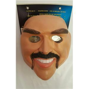 Cesar Mikkie Male Soft Vinyl Face Mask Handlebar Mustache Boxer Thug Tough