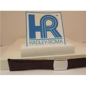 Hadley Roma Watchband A: 18mm Brown Genuine Lizard Skin w/Butterfly Fold Buckle.