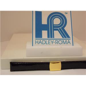 Hadley Roma Watchband 14mm Ladies Black Genuine Lizard  w/Butterfly Fold Buckle.