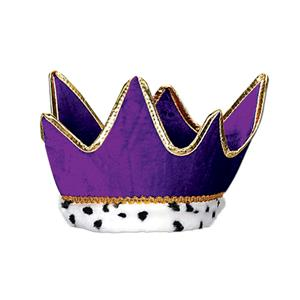 Plush Royal King Or Queen Crown Purple Party Accessory
