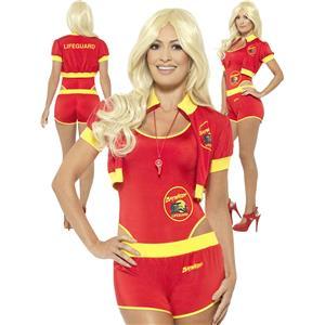 Smiffys Women's Baywatch Lifeguard Sexy Adult 90s tv Costume Size XS 2-4