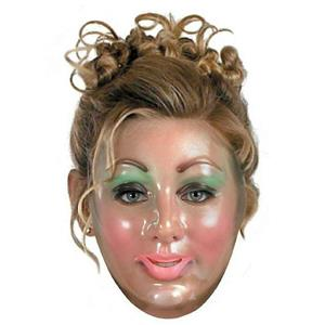 Transparent Young Woman Plastic Adult Mask