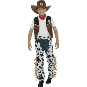 Smiffy's Texan Cowboy Child Costume Boy's Size Small 4-6