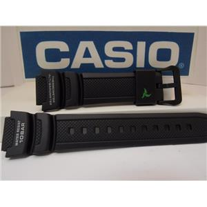 Casio Watch Band SGW-450 H-1A Blk Resin Strap w/Grn Wht. For Altimeter Barometer
