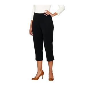 Susan Graver Size XXS Black Premier Knit Comfort Waist Pull-On Capri Pants