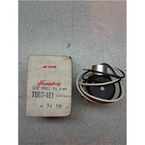 Humphrey T062-E41 4-Way Manifold Single Solenoid Valves 062-TYNAMYTE Series