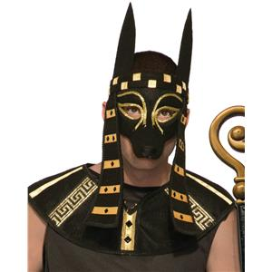 Mythical Creature Anubis Mask Men's Costume Accessory Black Dog Egyptian Roman