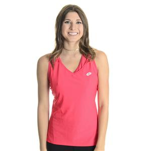 NWT Sz L Lotto Sport Red Juice Tennis Victoria Lace Cut Out Racerback Tank Top