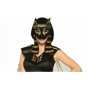 Mythical Creature Bastet Mask Women's Costume Black Cat Egyptian Roman