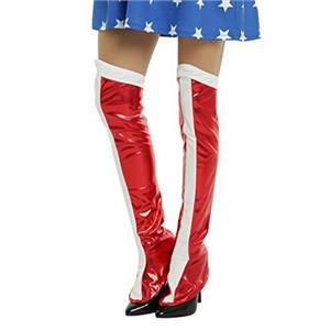 Rubie's Costume Co Women's Dc Superheroes Wonder Woman Boot Tops Shoe Covers