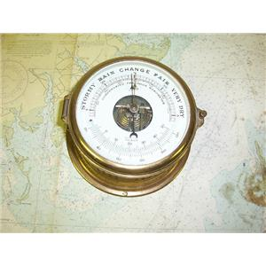 "Boaters' Resale Shop of TX 1707 0121.02 SCHATZ 5"" SHIPS BAROMETER & TEMPERATURE"