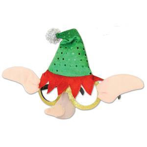 Christmas Novelty Elf Glasses Costume Accessory