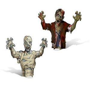 3-D Mummy & Zombie Scary Monster Centerpieces Halloween Decoration