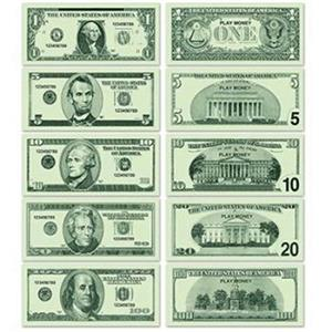 Casino Play Money 20 of each $1 $5 $10 $20 $100 Vegas Gambling Party Decoration