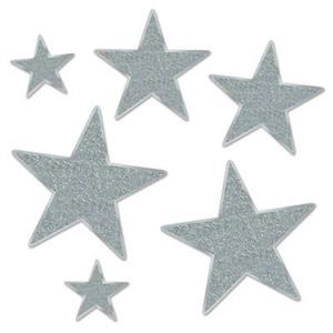 Beistle Glittered Foil Silver Sparkle Star Cutouts Party Decorations
