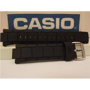 Casio Watch Band EF-529 Black Resin Strap / Edifice Tachymeter EF529. Watchband