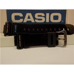 Casio Watch Band GWX-5600 Shiny Black Resin Strap/G-Shock. GWX5600 Watchband