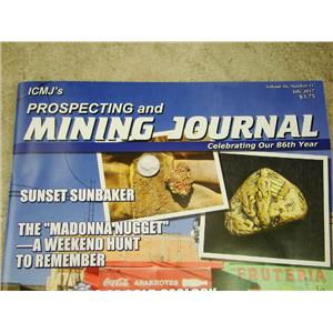 ICMJ's Prospecting & Mining Journal Magazine July 2017, GOLD!!! Madonna Nugget