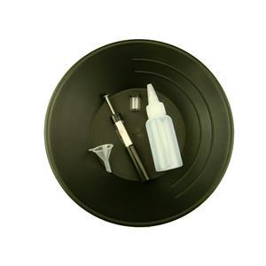 "10"" Black Gold Pan Kit  w/ Bottle Snuffer-Magnet-Vial-Funnel-Mining Panning ***"