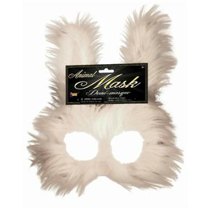 Furry Bunny Creepy Rabbit Half Mask