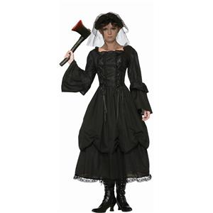 Miss Lizzie Borden Classic Funeral Dress Crimes Adult Costume