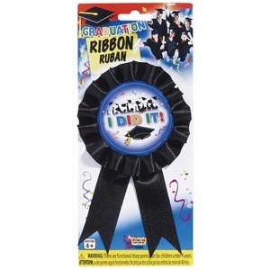 Graduation I DID IT Winner Ribbon Award Accessory