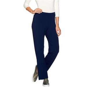 Susan Graver Size XS Dolce Knit Comfort Waist Pull-On Pants in Sapphire