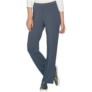 Susan Graver Size XS Dolce Knit Comfort Waist Pull-On Pants in Grey