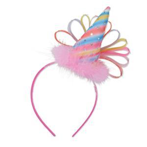 Pink Clown Party Hat Headband