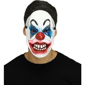 Fun World Killer Clown Red White Blue Horror Halloween Mask