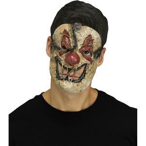Fun World Killer Clown Creepy Sewn Mouth Horror Halloween Mask
