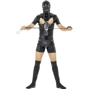 Smiffy's Men's Bondage Gimp Costume with Bodysuit Size Large