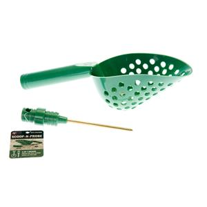 GREEN Plastic Metal Detector Scoop w/ Coin Probe-Sand-Beach-Treasure Gold Ring