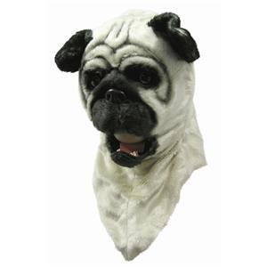 Bull Dog Moving Mouth Adult Costume Mask
