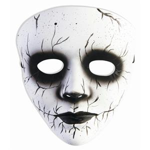 Banshee Black White Female Spirit Plastic Mask Accessory Costume Halloween