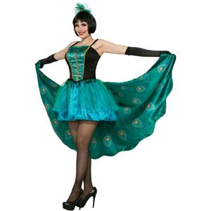 Women's Pretty In Peacock Costume Halloween Party Dress Standard Size 6-14