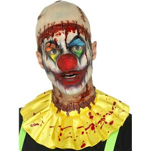 Rubber Creepy Clown Instant Kit With Bald Cap
