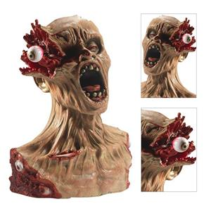 Rubber Exploding Eye Zombie Bust Prop Grotesque Halloween Decoration Prop